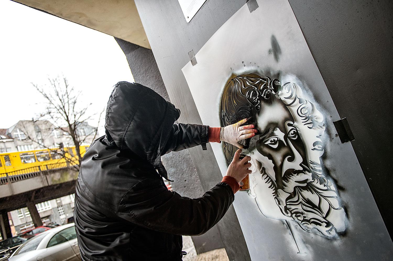 XOOOOX painting for Project M/11 - Radius - curated by Rudolf D. Klöckner (Urban Shit), Christian Hundertmark (C100) and Boris Niehaus (Just) in partnership with Urban Nation, Berlin, Germany, in February 2017. #projectM #projectM11 #UrbanNation #UrbanNationBerlin #MuseumofUrbanAndContemporaryArt #streetart #urbanart @urbannationberlin @1234Just @c100studio @urbanshitgallery @xoooox_xoooox photo by Nika Kramer
