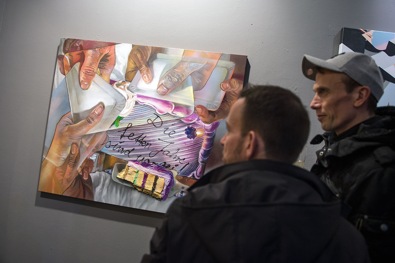 Opening night of Project M/11 - Radius - curated by Rudolf D. Klöckner (Urban Shit), Christian Hundertmark (C100) and Boris Niehaus (Just) in partnership with Urban Nation, Berlin, Germany, in February 2017. #projectM #projectM11 #UrbanNation #UrbanNationBerlin #MuseumofUrbanAndContemporaryArt #streetart #urbanart @urbannationberlin @1234Just @c100studio @urbanshitgallery @case_maclaim photo by Nika Kramer