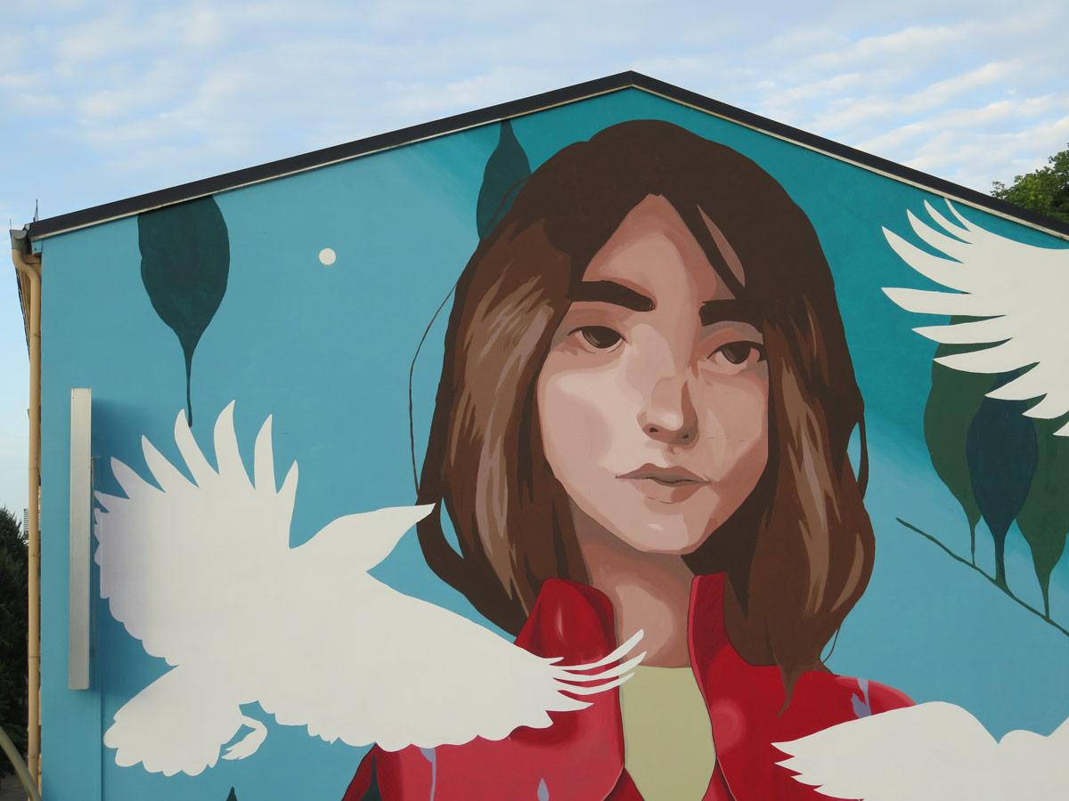 Künstler Hamburg sabek malt neues mural im rahmen walls can in hamburg