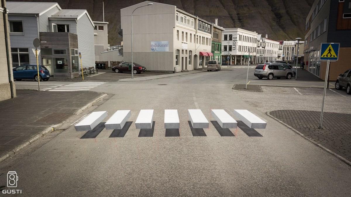 Eine isländische Kleinstadt setzt auf 3D Zebrastreifen für mehr ...