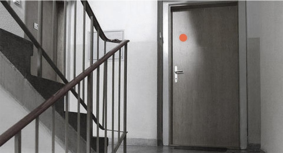 Ein Roter Punkt An Der Haustür Soll In Augsburg Gegen
