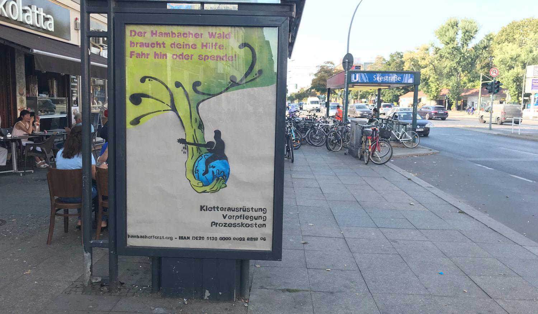 Kletterausrüstung Forst : Plakat takeover für den hambacher forst in berlin